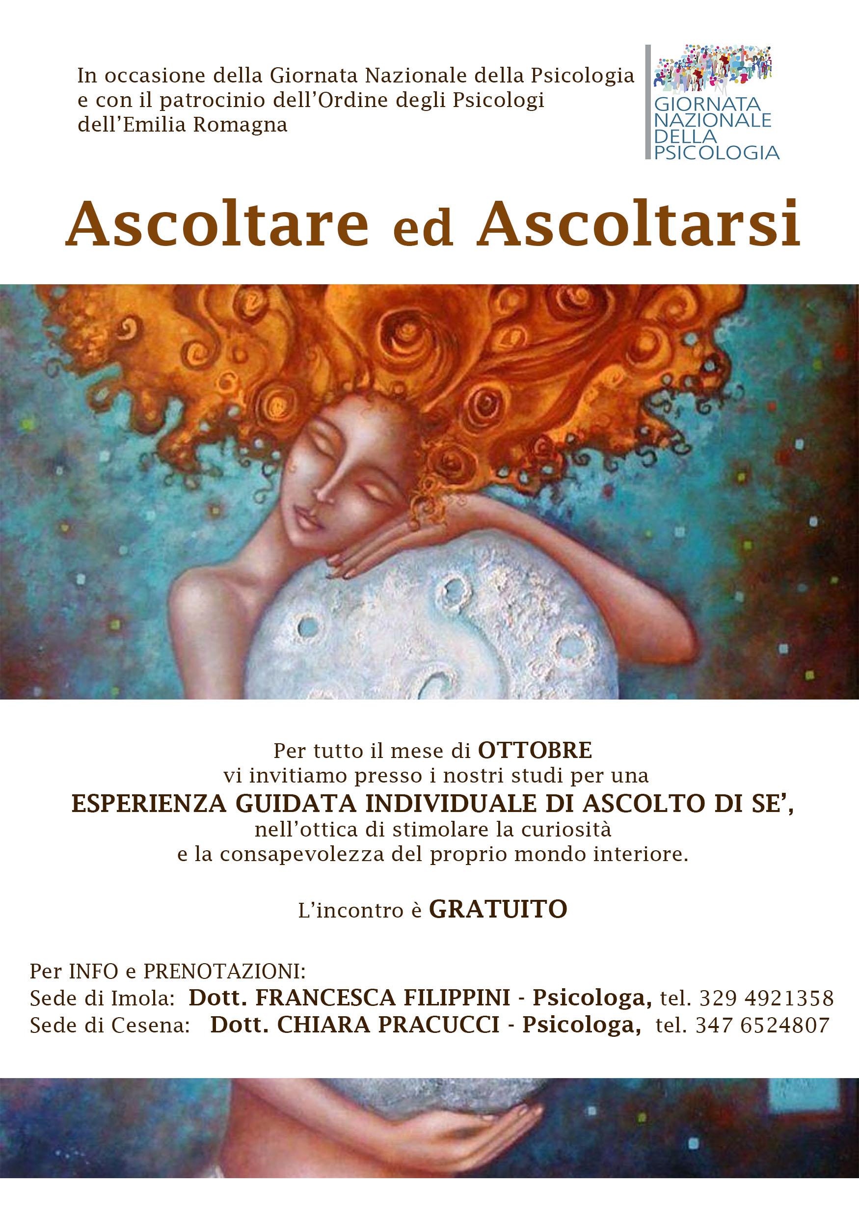 Ascoltare Ascoltarsi - Francesca Filippini Psicologa Imola